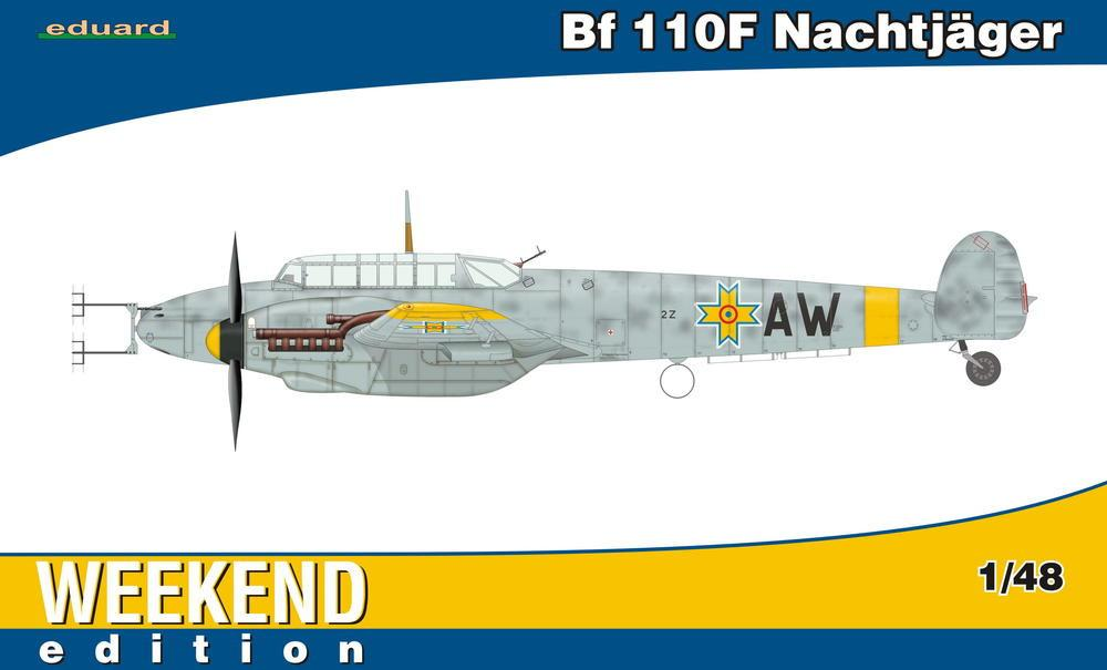 Eduard 1/48 Bf110F Nachtjager Fighter Wkd. Edition Kit