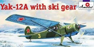 A Model From Russia 1/72 Yak12A Aircraft w/Skis Kit