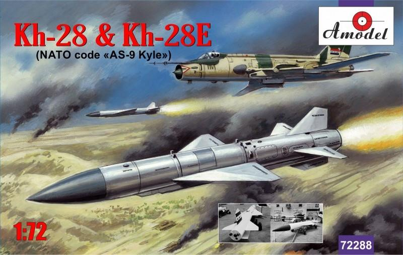 A Model From Russia 1/72 Kh28 & Kh28E NATO Code AS9 Kyle Rockets Kit
