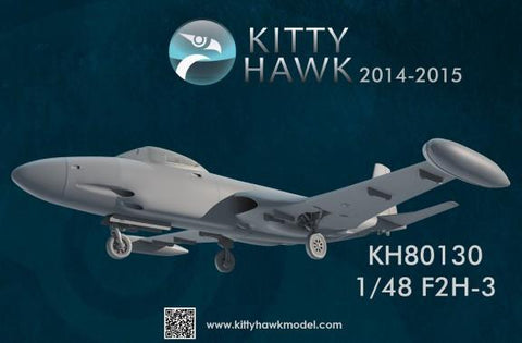 Kitty Hawk 1/48 F2H3 Banshee Jet Fighter Kit