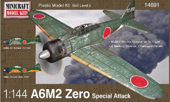 Minicraft 1/144 A6M2 Zero Special Attack Fighter Kit
