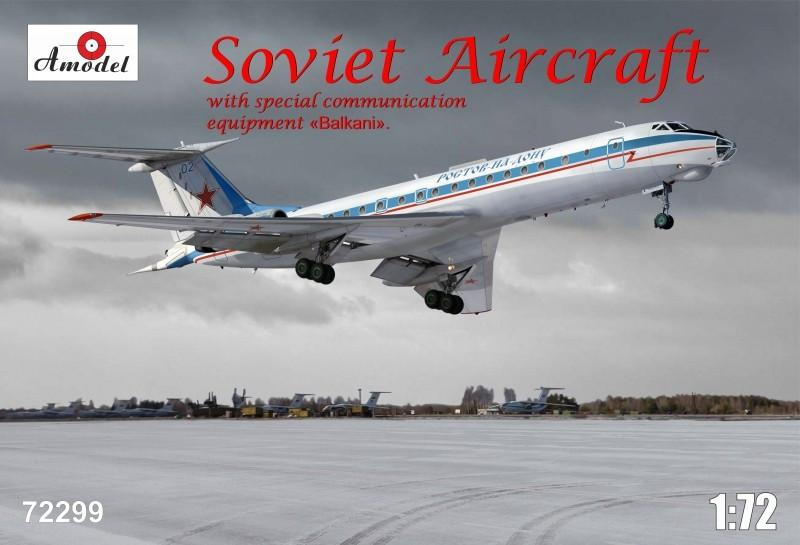 A Model From Russia 1/72 Tu134AK w/Special Communication Equip. Balkani Soviet Airliner Kit
