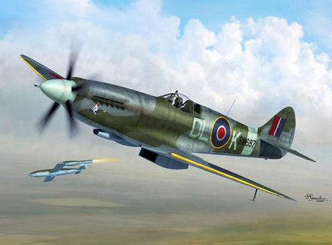 Sword Aircraft 1/72 Spitfire MK XIV C/E Fighter Kit