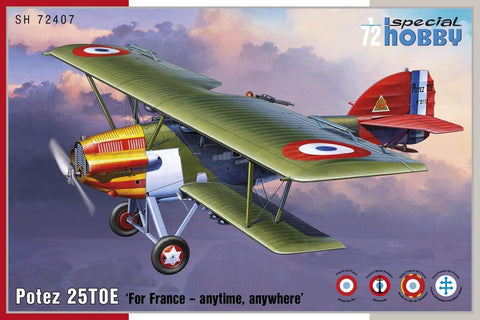 Special Hobby Aircraft 1/72 Potez 25TOE French Biplane Fighter Kit