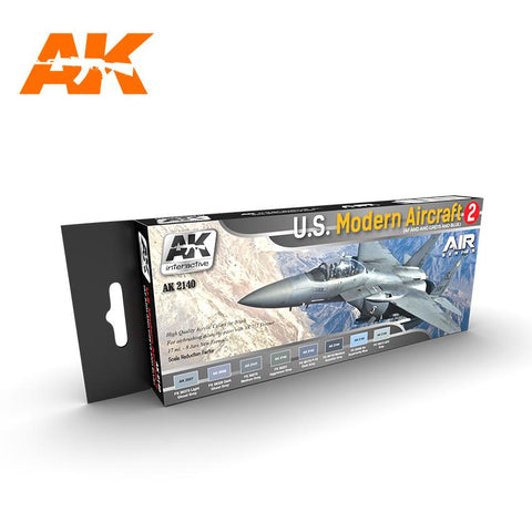 AK Interactive Air Series: US Modern Aircraft 2 Acrylic Paint Set (8 Colors) 17ml Bottles