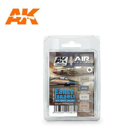 AK Interactive Air Series: Early Israeli Air Force Acrylic Paint Set (4 Colors) 17ml Bottles