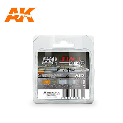 AK Interactive Air Series: Luftwaffe 1960s-1970s Acrylic Paint Set (5 Colors)