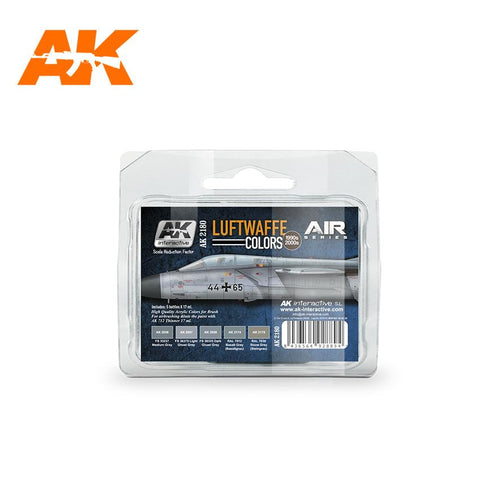 AK Interactive Air Series: Luftwaffe 1990s-2000s Acrylic Paint Set (5 Colors) 17ml Bottles