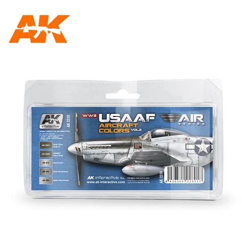 AK Interactive Air Series: WWII USAAF Aircraft Vol.2 Acrylic Paint Set (5 Colors)