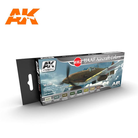 AK Interactive Air Series: WWII IJAAF Aircraft Acrylic Paint Set (8 Colors) 17ml Bottles