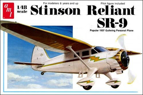 AMT Aircraft Models 1/48 Stinson Reliant SR9 Popular 1937 Gullwing  Kit
