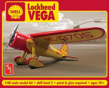 AMT Aircraft Models 1/48 Lockheed Vega Shell Oil Aircraft Kit
