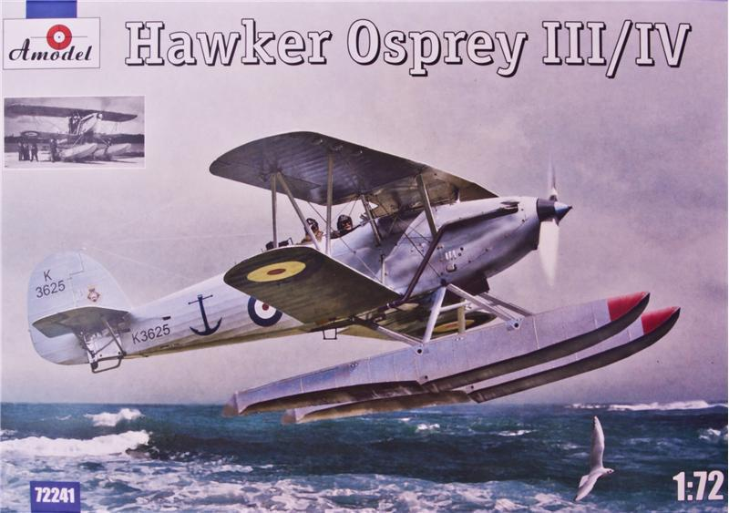 A Model From Russia 1/72 Hawker Osprey III/IV British BiPlane Amphibious Fighter Kit