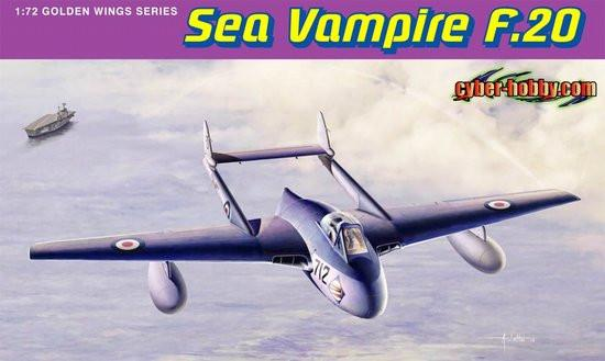 Cyber-Hobby Aircraft 1/72 Sea Vampire F20 Aircraft Kit