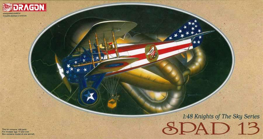 Dragon 1/48 Knights of the Sky: Spad 13 Biplane Kit