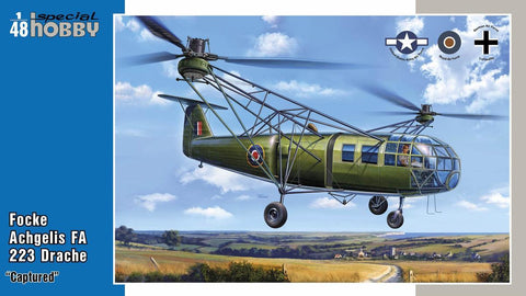 Special Hobby Aircraft 1/48 Focke Angelis FA223 Drache Captured Helicopter Kit