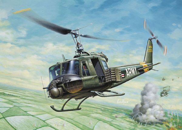 Italeri Aircraft 1/72 UH1B Huey Helicopter Kit