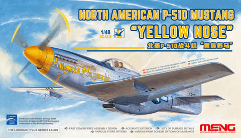 Meng 1/48 P51D Mustang Yellow Nose Fighter Kit