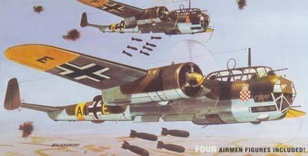 Lindberg 1/72 Dornier Do17Z WWII German Bomber Kit