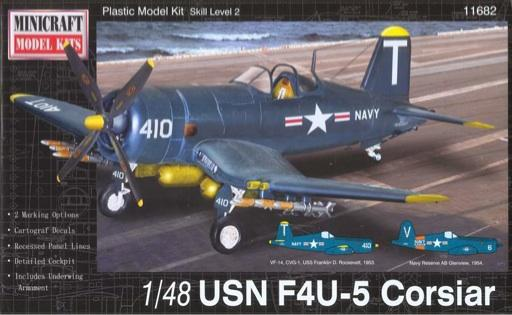 Minicraft Models Clearance Sale 1/48  F4U-5N Corsair USN Kit