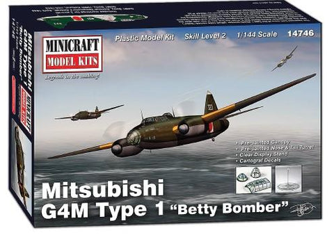 Minicraft Model Aircraft 1/144 Mitsubishi G4M Type 1 Betty Bomber Kit