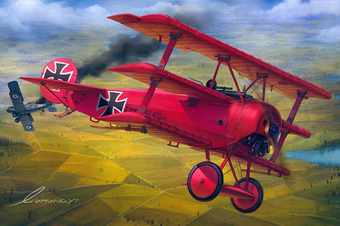 Meng 1/32 Fokker Dr. I Red Baron Triplane (New Tool) Kit