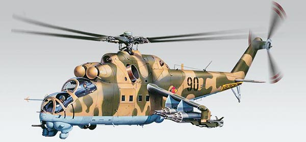 Revell-Monogram Aircraft 1/48 MiL24 Hind Helicopter Kit