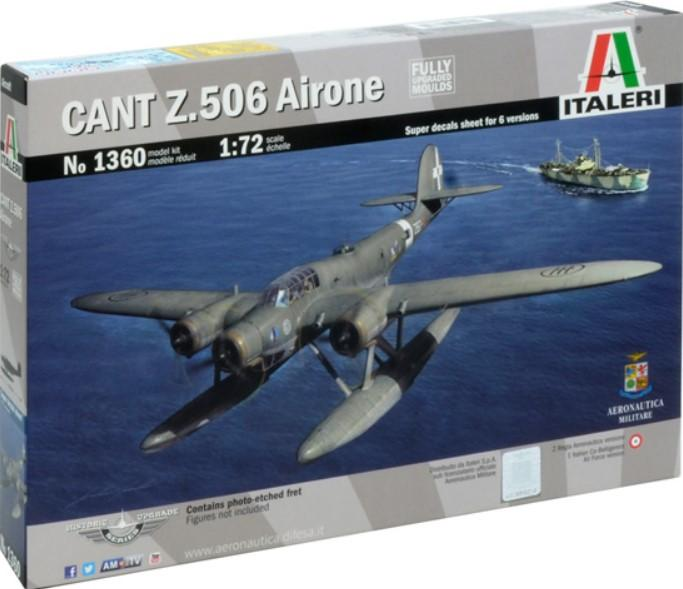 Italeri Aircraft 1/72 Cant Z506 Airone Triple Engine Floatplane Kit