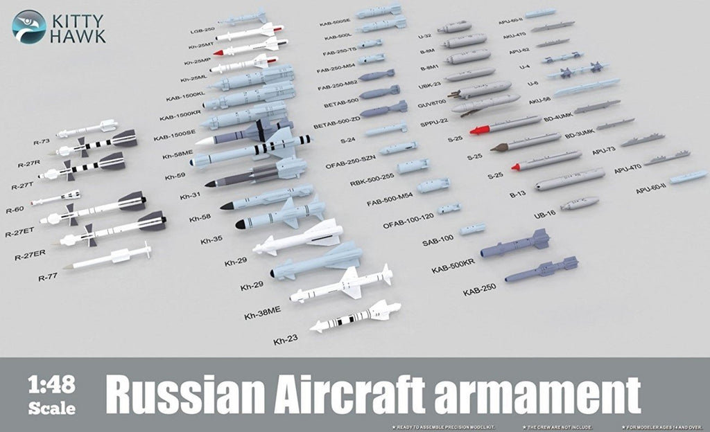 Kitty Hawk 1/48 Russian Aircraft Armament Kit