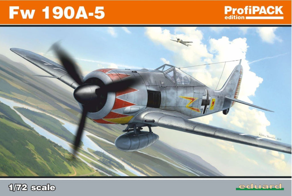 Eduard Aircraft 1/72 Fw190A5 WWII German Fighter Profi-Pack Kit