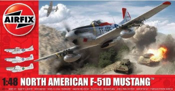Airfix 1/48 F51D Mustang Fighter Kit