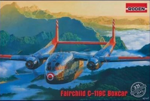 Roden Aircraft 1/144 Fairchild C119C Boxcar USAF Transport Aircraft Kit