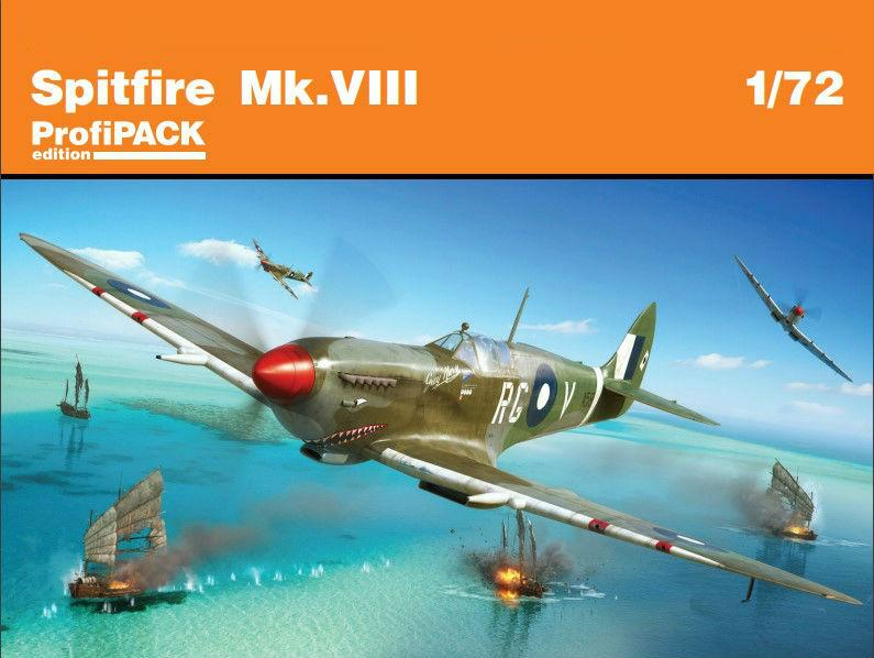 Eduard Aircraft 1/72 Spitfire Mk VIII Fighter Profi-Pack Kit