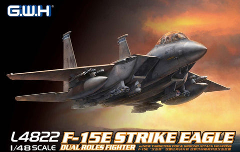 Lion Roar Aircraft 1/48 F15E Strike Eagle Dual Roles Fighter Kit