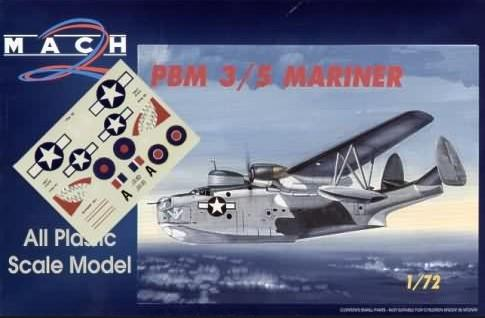 Mach-2 Aircraft 1/72 PBM3/5 Mariner Flying Boat Aircraft Kit