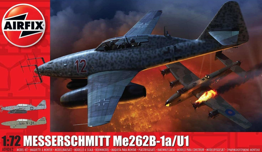 Airfix 1/72 Messerschmitt Me262B1a Fighter Kit