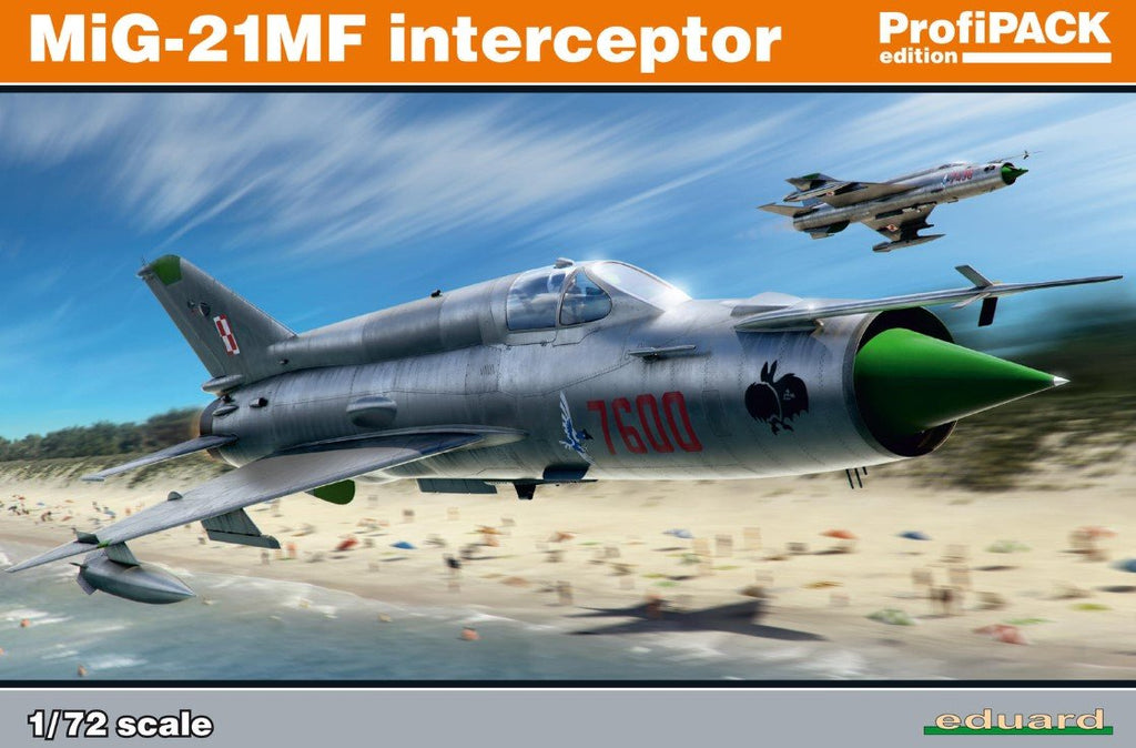 Eduard Aircraft 1/72 MiG21MF Interceptor Aircraft Profi-Pack Kit