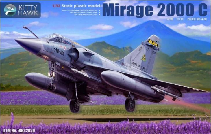 Kitty Hawk Aircraft 1/32 Mirage 2000C Fighter (New Tool) Kit