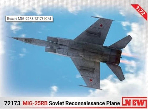 ICM Aircraft 1/72 Soviet MiG25RB Recon Aircraft Kit