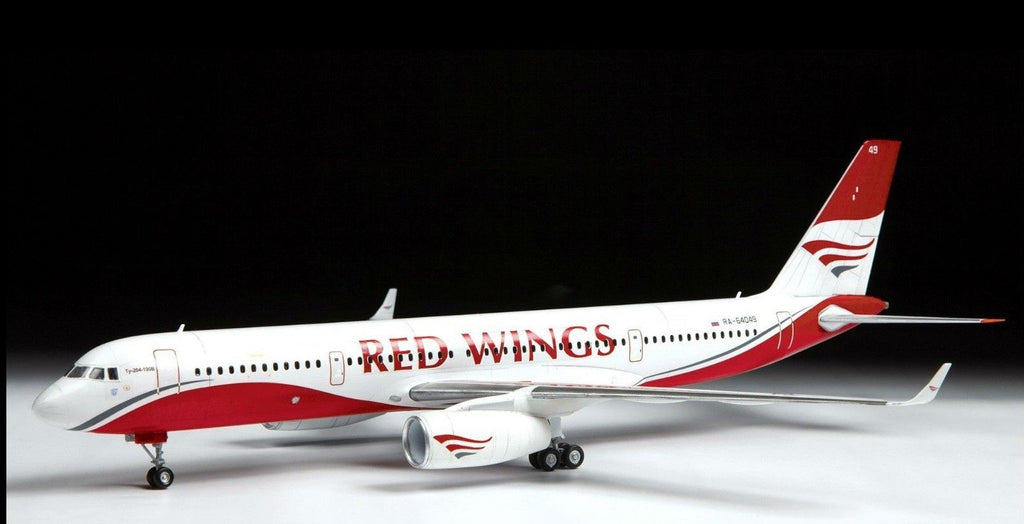 Zvezda Aircraft 1/144 Tupolev Tu204-100 Red Wings Passenger Airliner Kit