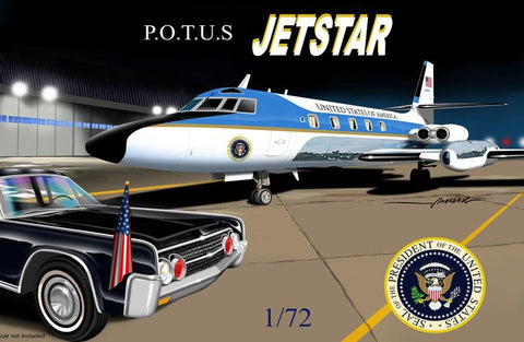 Mach-2 Aircraft 1/72 Jetstar US Air Force One Presidential Aircraft Kit