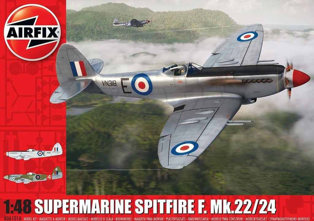 Airfix 1/48 Supermarine Spitfire F22/24 Aircraft (Re-Issue) Kit