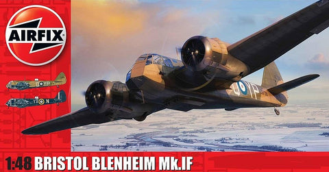 Airfix 1/48 Bristol Blenheim Mk IF Bomber (New Tool) Kit
