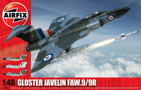 Airfix Aircraft 1/48 Gloster Javelin FAW9/9R RAF Fighter Kit