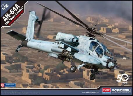 Academy Aircraft 1/35 AH64A ANG South Carolina Attack Helicopter Kit