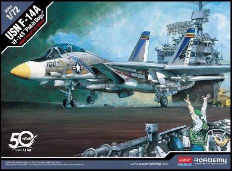 Academy Aircraft 1/72 F14A VF143 Pukin Dogs USN Fighter (New Tool) Kit