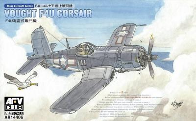 AFV Club Aircraft 1/144 Vought F4U1/1A/1C/1D Corsair Fighter (2) Kits