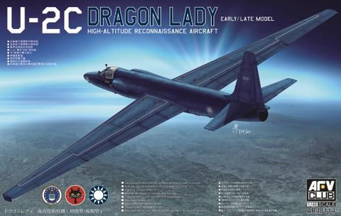 AFV Club Aircraft 1/48 U2C Dragon Lady Early/Late High Altitude Recon Aircraft Kit