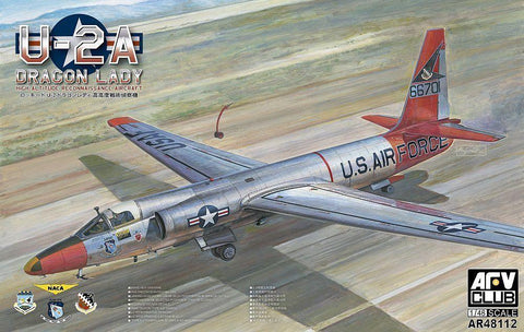 AFV Club Aircraft 1/48 U2A Dragon Lady High Altitude Recon Aircraft (New Tool) Kit