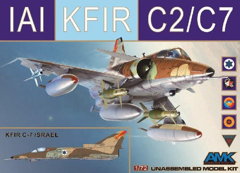 AMK Models Aircraft 1/72 Kfir C2/C7 Israeli AF Fighter (New Tool) Kit